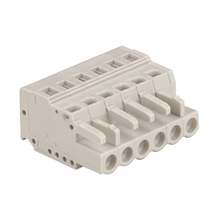 Multi-purpose spring connectors conductor female type 0.2-2.5 mm² Pin spacing 5.0mm 6-pole MCS connector