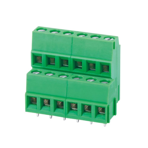 Euro terminal blocks Rising/Lift type 2.5mm² Pin spacing 5.00/5.08 mm 2*6-pole PCB connector