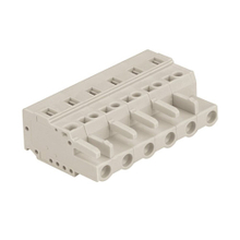 Multi-purpose spring connectors conductor female type 0.2-2.5 mm² Pin spacing 7.5mm 6-pole MCS connector