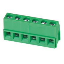 Euro terminal blocks Rising/Lift type 2.5mm² Pin spacing 5.00/5.08mm 6-pole PCB connector