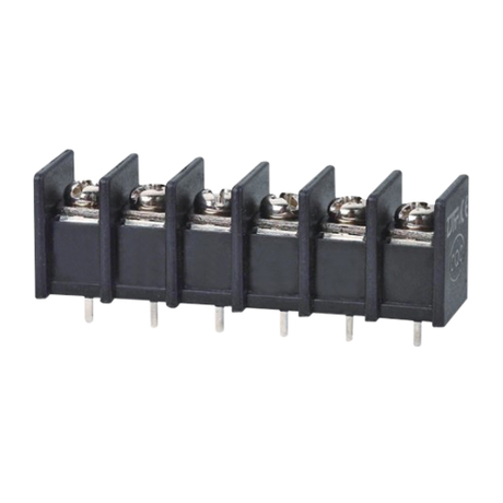 Barrier terminal blocks Screw type 2.5mm² Pin spacing 8.25 mm 6-pole PCB connector