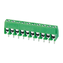 Euro terminal blocks Spring type 1.0mm² Pin spacing 3.96mm 10-pole PCB connector
